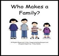 preschool family activities theme theme me and my family
