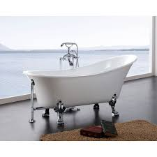 bath and shower dorya 69 inch acrylic clawfoot tub