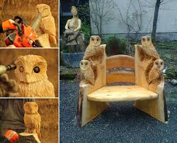 owl wood carving by andy burgess home design garden