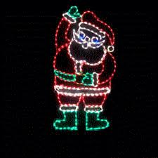 lighted animated waving santa