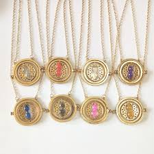 hermione necklace images Gold color time turner necklace hourglass vintage pendant hermione jpg