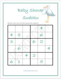 to play at baby showers baby shower sudoku boy and girl versions baby shower