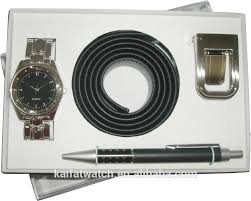 wholesale business gift set with belt and pen buy