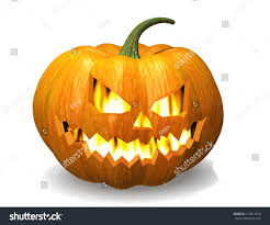 scary jack o lantern halloween pumpkin stock illustration