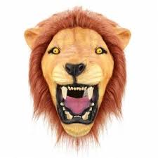 lion mask creepy angry lion mask animal eco friendly rubber