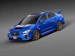 subaru sports car wrx subaru impreza 3d model
