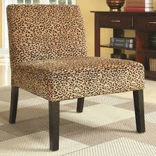 provide a modern sensibility into your living room decor with this coaster leopard print accent chair