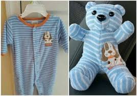 teddy clothes diy baby onesie clothes stuffed keepsake teddy