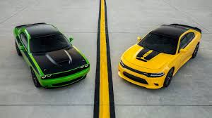Dodge Challenger Yellow - dodge u0027s 2017 challenger t a and charger daytona are muscle car