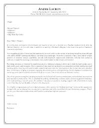 cover letter cover letter for instructor position sample cover
