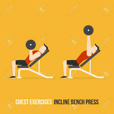 Flat And Incline Bench Chest Exercises Incline Bench Press Flat Design Bodybuilder