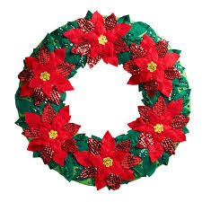 poinsettia bucilla wreath kit