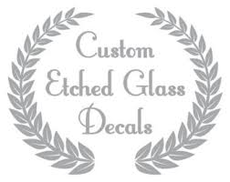 etched glass ornaments personalized etched glass decal etsy