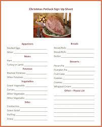 Potluck Sign Up Sheet Template Excel Potluck Sign Up Sheet Template Bio Exle Pertaining To