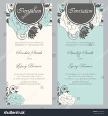 wedding invitations vector beautiful floral wedding invitations vector illustration stock