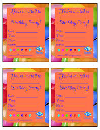 invitation templates for birthday party gallery party