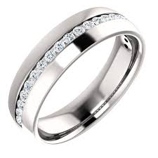 mens diamond engagement rings men s diamond band channel set donna jewelry co