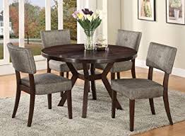 Dining Tables 4 Chairs Amazon Com Acme Furniture Top Dining Table Set Espresso Finish