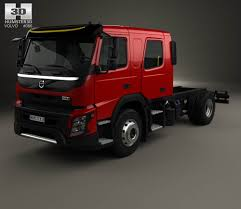 volvo model trucks volvo fmx crew cab chassis truck 2014 3d model hum3d