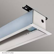How To Hang A Projector Screen From A Drop Ceiling by Access Fit M Manual Projection Screen Draper Inc