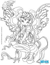 aisha transformation bloomix coloring pages hellokids com