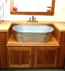 galvanized tub kitchen sink galvanized tub sink by willow decor home decorating ideas