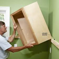 how to hang a cabinet to the wall how to install cabinets like a pro installing kitchen