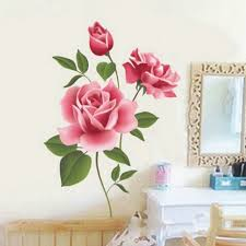 rose flower wall stickers removable decal home decor diy art 1 x wall sticker