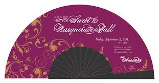 personalized folding fans folding fan wedding programs and invitations fanprinter