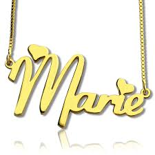Personalized Name Plate Necklaces Nameplate Necklace For Girls 18k Gold Plated