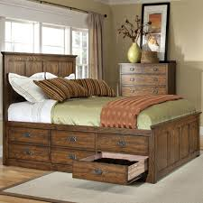 King Size Bed Storage Frame Intercon Oak Park Op Br 5856qs Mis C Mission Bed With Twelve