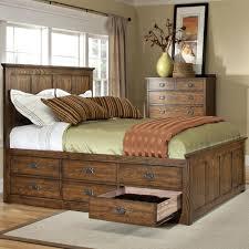 intercon oak park mission queen bed with 9 underbed storage