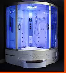 Bathtub Jacuzzi Big Corner Whirlpool Tub Steam Shower Room 9011 Image 1 Hey A