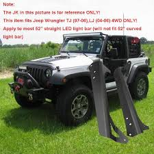 jeep wrangler tj light bar aliexpress com buy osl upper windshield light bar mounts