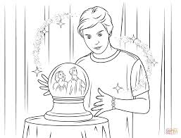 max russo from wizards of waverly place coloring page free