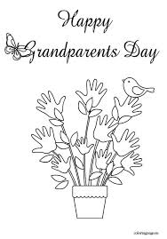 12 grandparents coloring print color craft