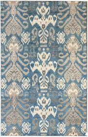 Vintage Living Room by Floors U0026 Rugs Blue Grey Ikat Rug For Vintage Living Room Decor Idea