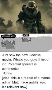 Godzilla Nope Meme - nope nope nope nope ebook com offic just saw the new godzilla