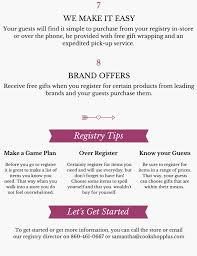 wedding registry stores list gift wedding registry