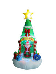 the aisle tree with santa claus