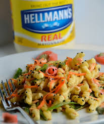pasta salad with mayo pasta salad with wasabi mayo and pickled ginger enter hellmann u0027s