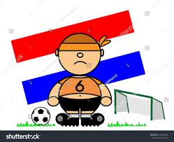 vector representing kiki dress footballer flag stock vector