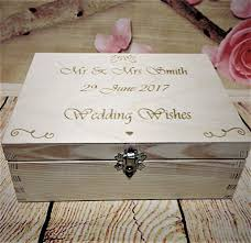 wishing and groom the best wedding guest book box 40 x wooden heart wishes and groom