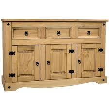Discount Pine Furniture Panama Sideboard 2 Door 2 Drawer Solid Waxed Pine Rustic Storage