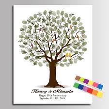 anniversary guest book aliexpress buy fingerprint wedding tree painting diy