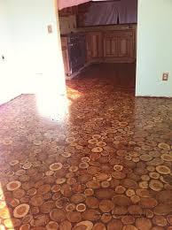 log floor diy amazing wooden log floor creative things