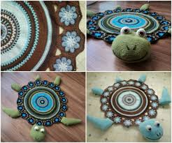 Crochet Home Decor Patterns Free Wonderful Diy Crochet Sea Turtle Rug With Free Pattern