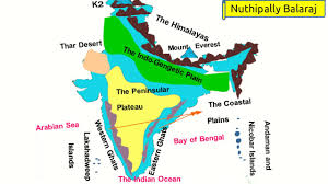 India Physical Map by Physical Features Of India Em Youtube
