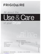 frigidaire affinity faqe7001lw manuals