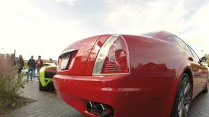 red maserati sedan red maserati quattroporte startup u0026 rev youtube